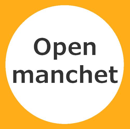 Half open manchet